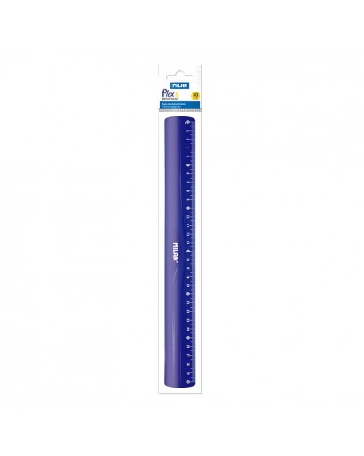 MILAN 353801 ACID FLEX&RESISTANT RULER BLUE 30 CM