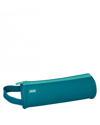 MILAN 081131MT2T ROUND-SHAPED TURQUOISE PENCIL CASE