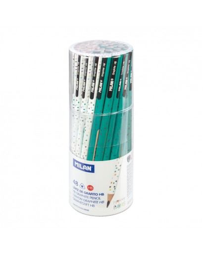 MILAN 0711315148HB HAPPY BOTS GRAPHITE PENCILS CAN OF 48