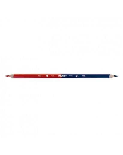 MILAN 702312 BICOLOUR RED-BLUE PENCILS TRIANGULAR BOX OF 12
