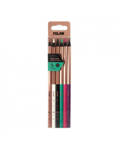 MILAN 0713206 COPPER THICK LEAD COLOUR PENCILS BOX OF 6