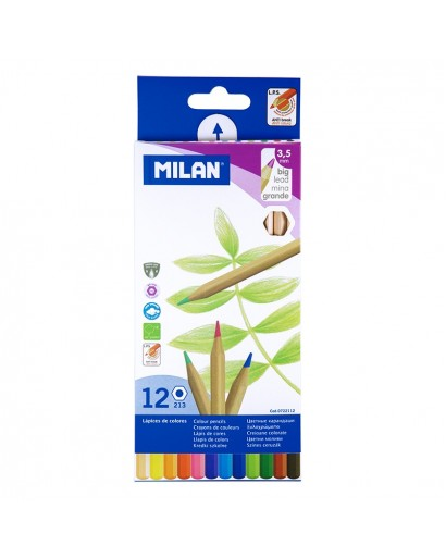 MILAN 0722112 HEXAGONAL COLOUR PENCILS BOX OF 12