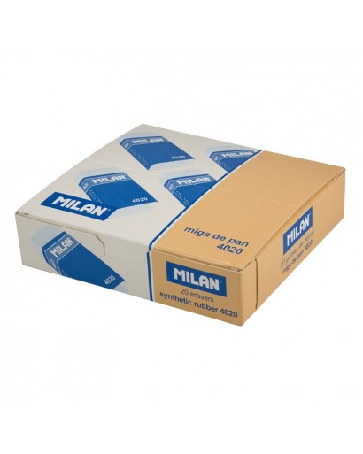 MILAN SOFT SYNTHETIC 4020 ERASERS BOX OF 20