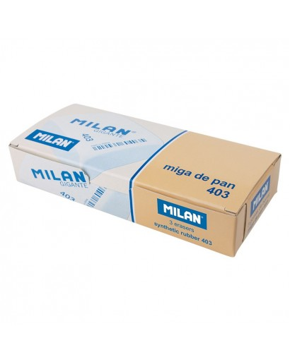 MILAN SOFT SYNTHETIC 403 EXTRA LARGE ERASERS BOX OF 3