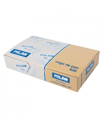 MILAN SOFT SYNTHETIC 420 ERASERS BOX OF 20