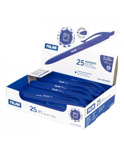 MILAN 176510925 P1 TOUCH BLUE BALLPEN BOX OF 25