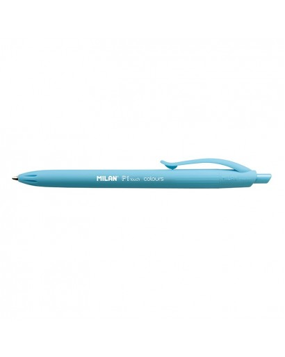 MILAN 176551212 P1 TOUCH BLUE BALL PEN BOX OF 12