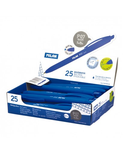 MILAN 1765769125 P07 TOUCH PENS BLUE BOX OF 20
