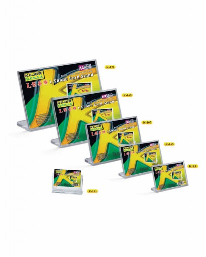 K-163 L Type Hortizontal Card Stand (12.7x8.9cm)